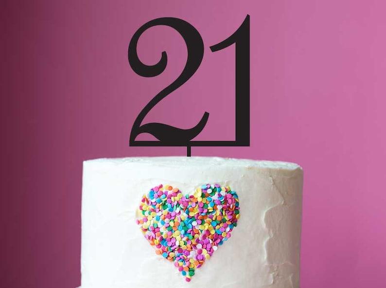 21st Birthday Cake Topper Laser Cut Number 21