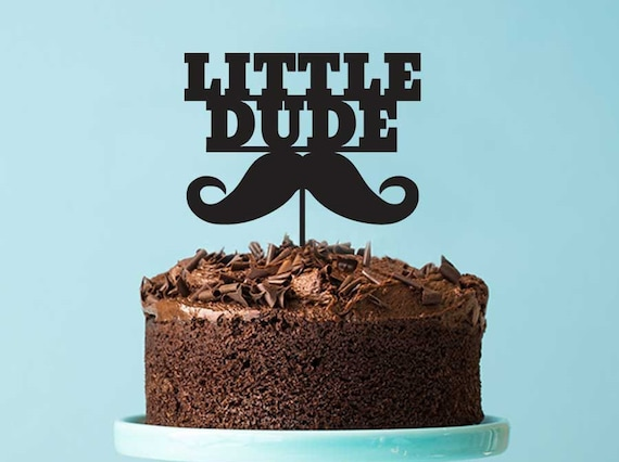 Brilliant Kids Birthday Cake Topper Little Dude Mustache Kids Birthday Etsy Funny Birthday Cards Online Necthendildamsfinfo