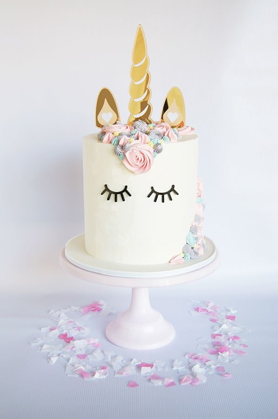 Unicorn Birthday Cake Topper Decorator Kit