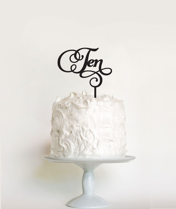 Girls Or Boys 10th Birthday Cake Topper 10 Tenth Ten
