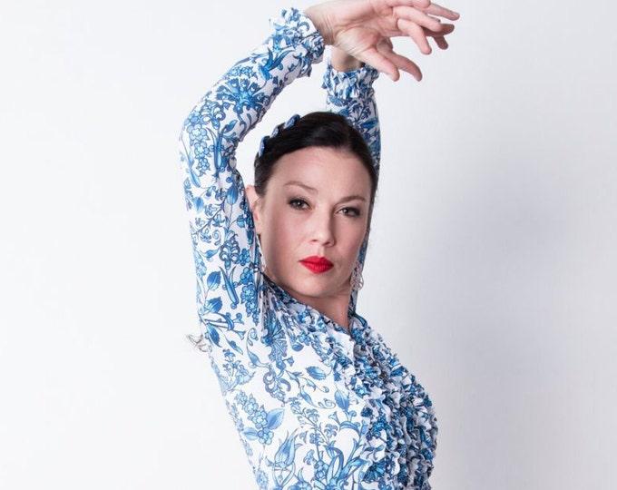 Blue and white MARIA Flamenco shirt