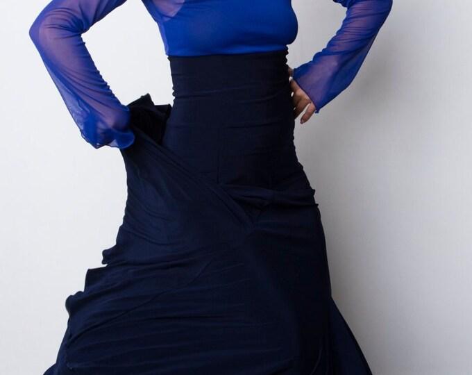 Indigo FISHTAIL skirt