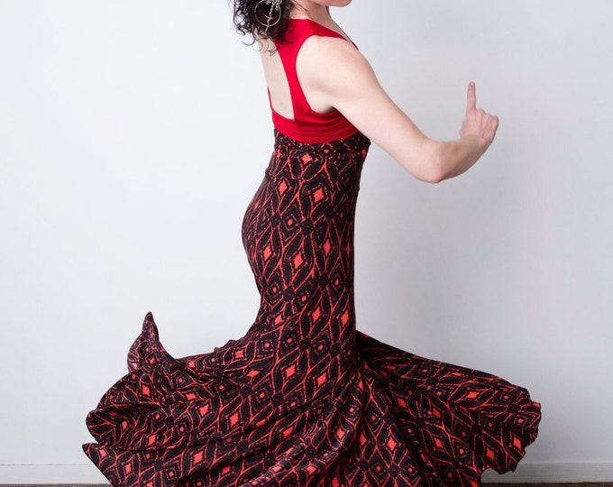 Red Diamond FISHTAIL Flamenco skirt