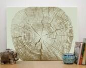 Tree Rings, Digital Tree Ring Print, Natural Wood, Download Print, Vintage Interior Décor, Tree Ring, Tribal. 16x20' Print Instant Download.