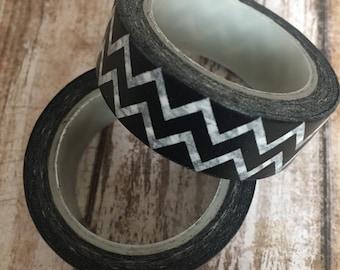 Black & white zig zag washi tape