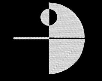 Star Wars - Etoile de la Mort minimaliste (motif de broderie)