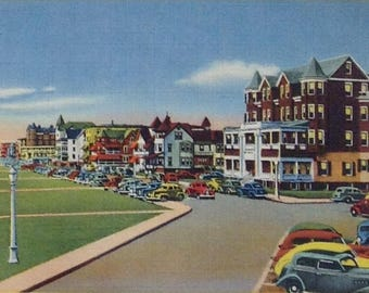 Ocean Grove, NJ, Vintage Postcards, Asbury Park,  Lot of three, old post cards, Ocean Grove Souvenir, Ocean Grove NJ, Ocean Grove kitsch