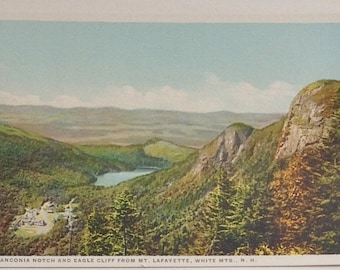 White Mountains,Franconia Notch, postcards,  NH, vintage postcards, Lot of three, Mt Washington, Mt. Lafayette, Franconia Mountains
