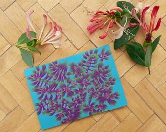 Jellybean Succulent greetings card