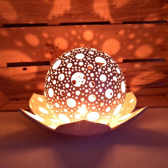 Lotus Kerze Halter Hochzeit Tisch Herzstück Keramik Windlicht | Etsy