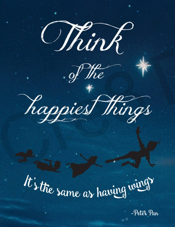 Items Similar To Disney Peter Pan Movie Quote Print On Etsy