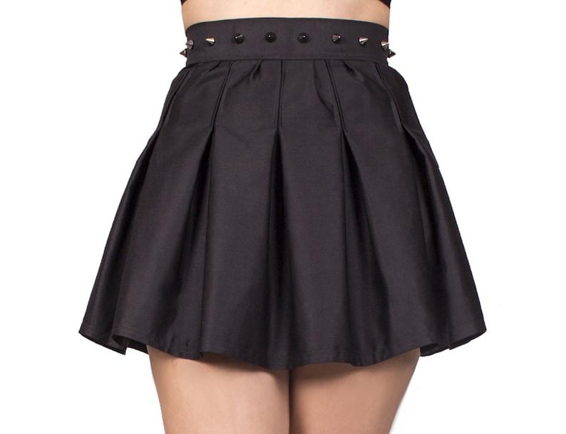 Black pleated skirt pleated skirt black midi skirt black image 0