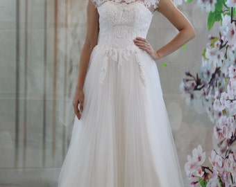 Sweet high low lace applique ball gown wedding dress etsy