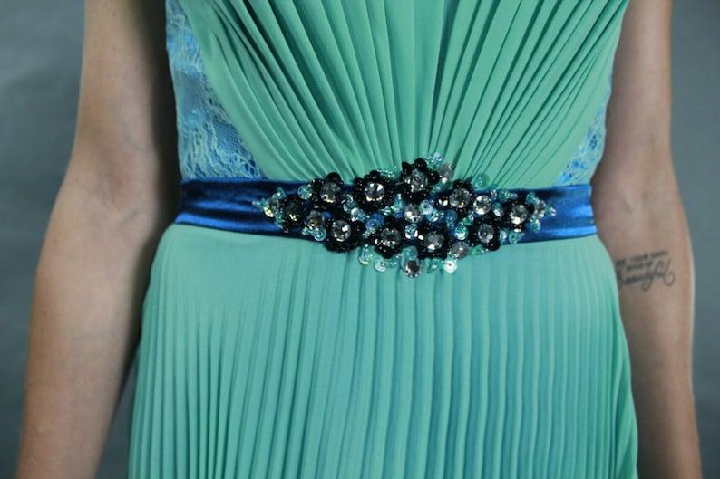 Elegant lace V-neck see through back chiffon evening prom as2TG2uj