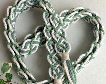 Celtic Forest braided handfasting cord ~ 100% recycled cotton yarn ~ ethical wedding ribbon for handbinding ~ Celtic braid ~ the original