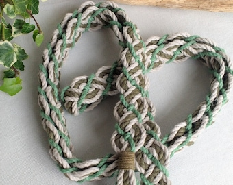 Celtic Valleys braided handfasting cord ~ 100% recycled cotton ~ green ethical wedding ribbon for handbinding ~ Celtic braid ~ the original