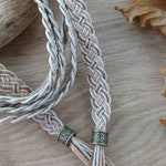 Soft spice colours Celtic wedding cord - eco friendly braided hemp handfasting cord - rustic cord in ivory, blush and spice