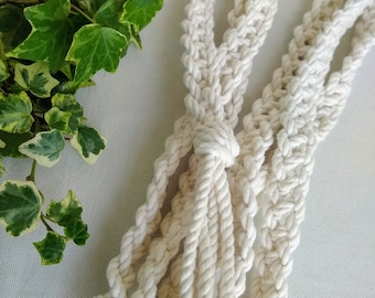 Natural ivory Celtic braided handfasting cord - 100% recycled cotton yarn - ethical wedding ribbon for handbinding - eco friendly product