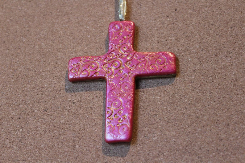 Cross Ornament Polymer Clay