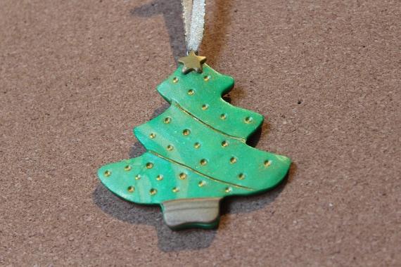 Polymer Clay Christmas Tree Ornament - Polymer Clay Christmas Tree Ornament Etsy