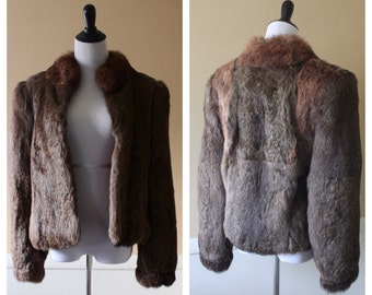 Vintage rabbit fur coat Medium
