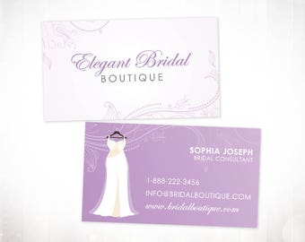 Premade business card 500 cards kraft paper nature etsy premade business card 500 cards bridal boutique reheart Gallery