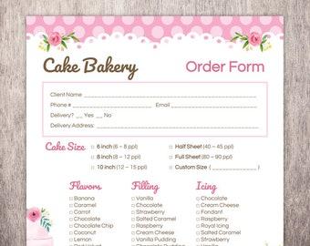 Cupcake Order Form | Cupcake Order Form Etsy