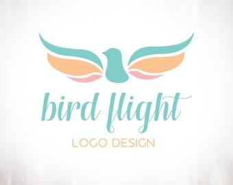 Premade Logo Design • Bird Flight