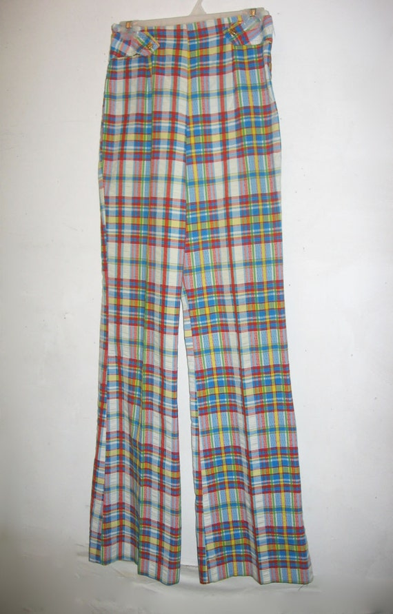 Vintage Jantzen Vibrant Multicolor Plaid Striped