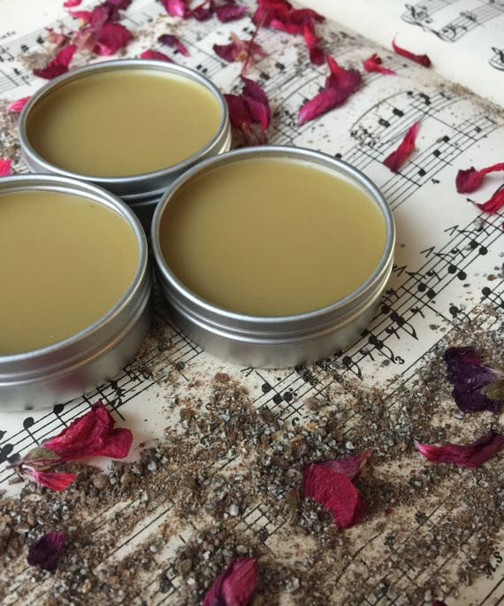 Mystic Nights Solid Perfume Organic made with essential oils, and decrotive Mucha Tin