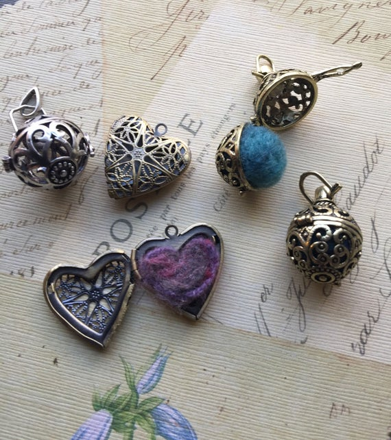 Anima Amulet  Brass locket with felted inside