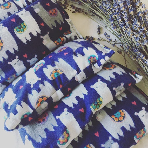 Lavender and flax relaxing eye pillows