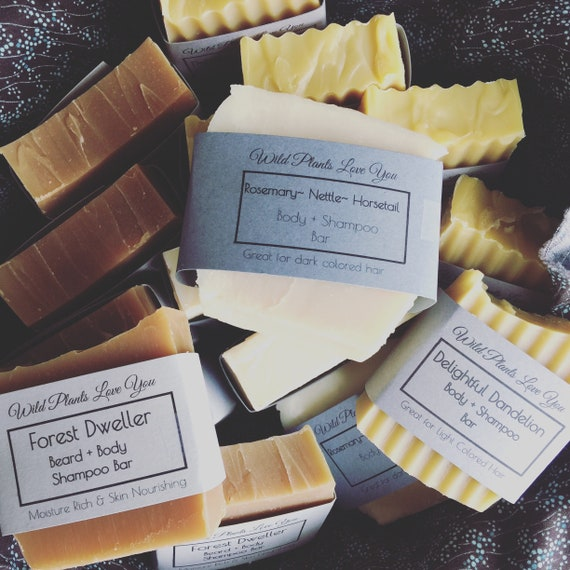 Herbal infused shampoo bars