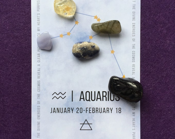 Crystal - Aquarius Grid - Astrology - starts - with sign