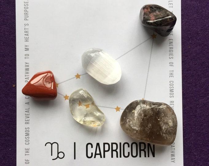 Capricorn crystal grid