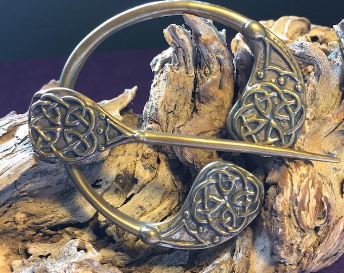 Vintage Celtic Scarf Ring - Shall Pin - Irish - celtic scarf Pin