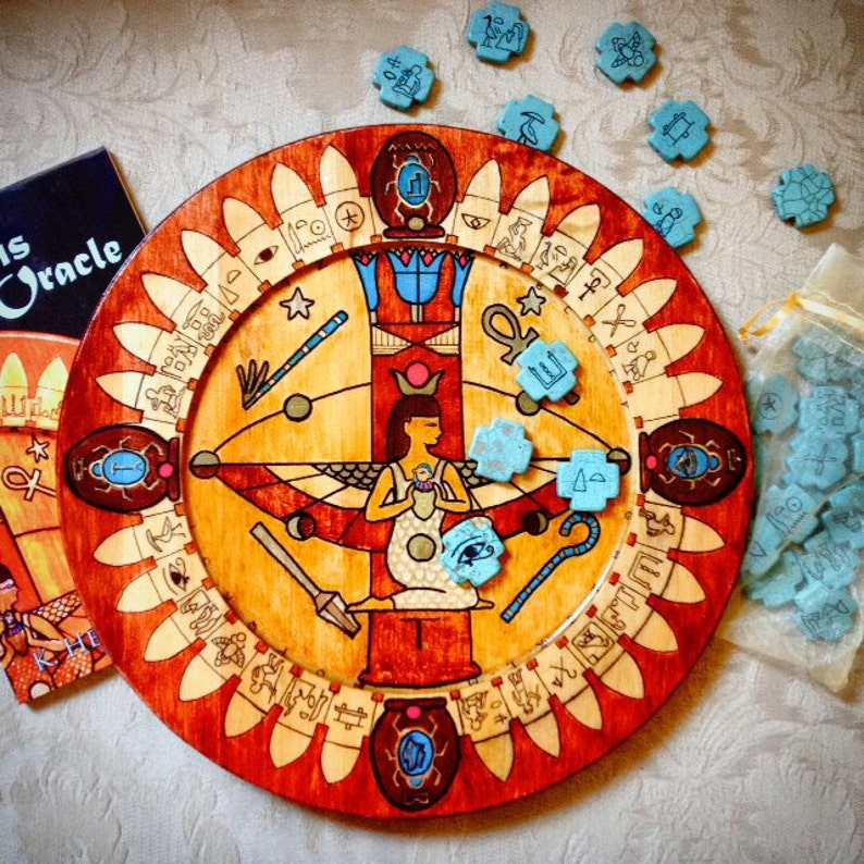 The Isis Oracle: Divination Plate and Speaking Stones image 0