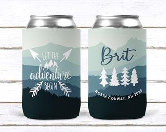 Bachelorette Party Cups Mountain Bachelorette Custom Can Cozies
