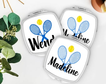 Tennis Team Gift | Tennis Party Favor | Tennis Make up Mirror | Tennis Team Favors | Custom Tennis Gift | Personalized Tennis Event Favors