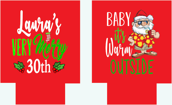 Christmas In July Party Favors.Christmas In July Party Huggers Personalized Christmas Beach Party Favors Christmas Vacation Favors Christmas Birthday And Bachelorette Too