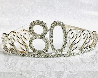 80th Birthday tiara,Birthday Headband, 80 Birthday Party Tiara, 80 Birthday Crown, 80th Birthday Party Decoration, 80th gift!