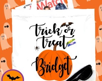 Halloween Party Tote bag. Halloween Bachelorette or Girls Weekend Totes! Halloween Trick or Treat Candy Bag!!