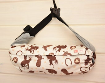 LAST Baby Carrier Cover (Reversible) Rodeo Rider/Rodeo Rider Stars in Brown (Rodeo) Tula Ergo/Kinderpack/Beco/Boba/Lillebaby