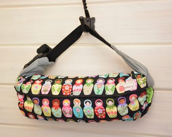 SALE! Baby Carrier Cover (Reversible) Matryoshka Dolls/Solid Black (Dolled Up) Tula/Ergo/Kinderpack/Beco/Boba/Lillebaby