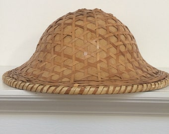 eab47d77a Vietnamese Style Bamboo Fishing Hat - Vintage Asian Sun Hat