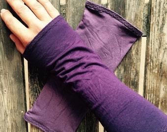 Reversable - Two Tone - Light Purple - Dark Purple - Archer Sleeves  - Festival Wear - Tribal - Steam Punk - Goth - Hippie - Fairy