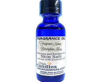 Lilac 1oz / 29.5ml Blue Glass Bottle of Premium Grade Fragrance oil, Infused with Essential Oil skin safe, many uses, by itself, soap making