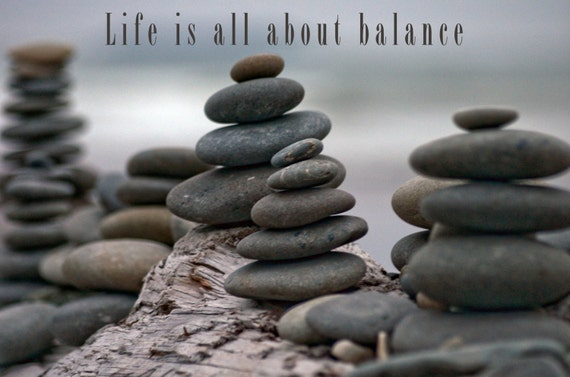 Inspirational Personalized Quotes Balanced Rocks Life Is All Etsy