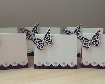 Wedding place cards, place card settings, wedding place settings, wedding table decorations