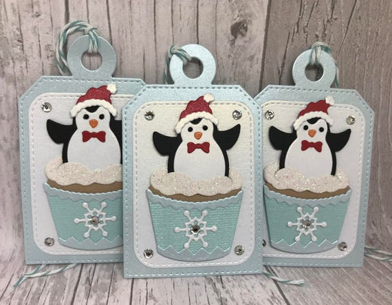Christmas Gift Tags Handmade.Christmas Gift Tags Penguin Gift Tags Holiday Gift Tags Present Gift Tags Handmade Christmas Gift Tag Handmade Gift Tag Wrapping